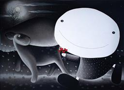 Sale 9249A - Lot 5052 - MACKENZIE THORPE (1956 - ) Love and the Moon serigraph, ed. 99/395 (unframed) 61 x 76 cm signed lower right