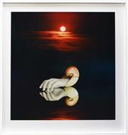 Sale 8330A - Lot 44 - Rex Dupain (1954 - ) - Red Moon 106 x 106cm (frame size 132 x 131cm)