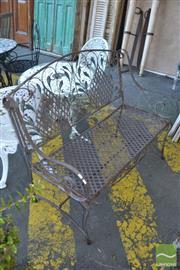 Sale 8390 - Lot 1376A - Metal Garden Bench