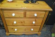 Sale 8431 - Lot 1010 - Edwardian Pine Chest of 4 Drawers