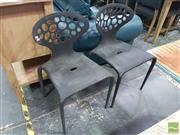 Sale 8554 - Lot 1024 - Pair of Plastic Chairs