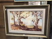 Sale 8779 - Lot 2051 - Joseph Sayer - Marrundidgee Gums , 52 x 73cm (frame), signed lower left