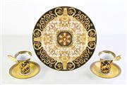 Sale 8989 - Lot 50 - Rosenthal Versace Barocco plate (Dia: 30.5cm) together with a pair of Barocco winged cups