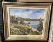 Sale 9004 - Lot 2026 - M. Trodden Parramatta Riveroil on board, 56 x 66cm (frame) signed