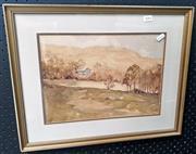 Sale 9058 - Lot 2061 - R M. Tomlinson - Landscape frame: 41 x 51 cm