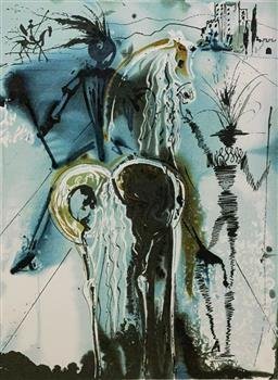 Sale 9108A - Lot 5026 - Salvador Dali (1904 - 1989) - Don Quichotte 56 x 36 cm