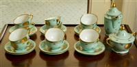 Sale 8392H - Lot 67 - A Czechoslovakian bone china tea set for twelve including sugar bowls