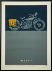 Sale 8439A - Lot 63 - Carby Tuckwell, Original Deus ex Machina limited edition silkscreen print, The Wallah HD-WLA, 98 x 72cm inc. framing