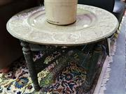 Sale 8462 - Lot 1049 - Occasional Table with Brass Top