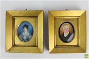 Sale 8555 - Lot 82 - Ivory Painted Miniatures