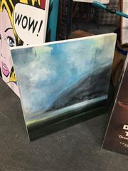 Sale 8711 - Lot 2088 - Michelle Mercer - River and Mountain acrylic and marker pen, signed lower left