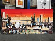 Sale 8730 - Lot 2064 - Artist Unknown - Sydney Skyline with Opera House & Bridge, acrylic on canvas, SLR
