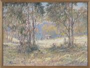 Sale 8767 - Lot 2036 - Reginald Rowe (1916 - 2010) - Wilbes Meadow 48 x 63cm