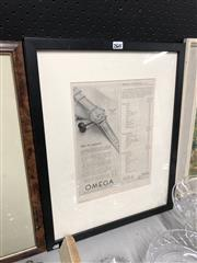 Sale 8775 - Lot 29 - A framed Omega advertisement, frame size 50cm x 40cm