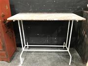 Sale 8787 - Lot 1007 - Metal Frame Hall Table With Marble Top