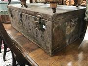 Sale 8868 - Lot 1581 - Rustic Metal Trunk