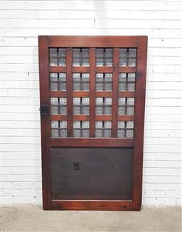 Sale 9112 - Lot 1012 - Japanese hardwood door (h:180 x w:110cm)