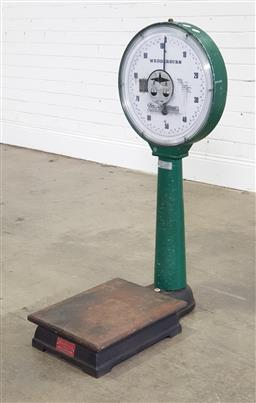 Sale 9191 - Lot 1101 - Vintage Wedderburn scales (h98 x w54 x d40cm)