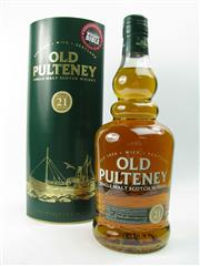 Sale 8290 - Lot 422 - 1x Old Pulteney The Maritime Malt 21YO Single Malt Scotch Whisky - in canister. Jim Murrays World Whisky of the Year 2012