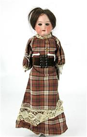 Sale 8330T - Lot 93 - Armand Marseille Bisque Head Doll; late 19th Century with glass eyes (slightly pushed in), open mouth, head marked AM - 7/0, origina...