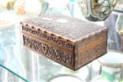 Sale 8322 - Lot 20 - Indian Pressed Timber Box