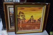 Sale 8544 - Lot 2088 - Oleograph & Artwork (2)