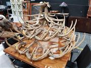 Sale 8680 - Lot 1019 - Faux Antler Chandelier
