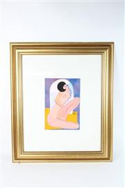 Sale 8752 - Lot 2002 - Samack - Seated Nude, Framed Watercolour (1995)