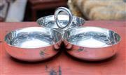 Sale 8746 - Lot 1048 - Christofle silverplated triple savoury dish with box
