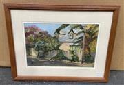 Sale 9004 - Lot 2076 - M. Trodden Residential Scenes and Rural Cottage oil paintings, 50 x 64cm; 44 x 54 cm (frames)
