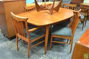 Sale 8338 - Lot 1044 - McIntosh Teak Dining Table with Six Chairs