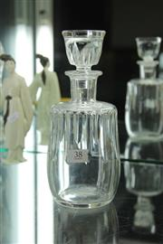 Sale 8339 - Lot 38 - Baccarat Crystal Decanter (Small Chip to Stopper)