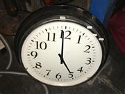 Sale 8663 - Lot 2176 - Metal Framed Wall Clock