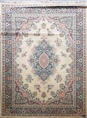 Sale 8676 - Lot 1068 - Blue and Cream Rug (280 x 190cm)