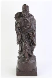 Sale 8802 - Lot 218 - Carved Timber Figure of An Elderly Man