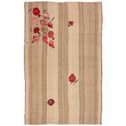 Sale 8890C - Lot 2 - Persian Jajim Embroidered Kilim Carpet, 240x150cm, Handspun Wool