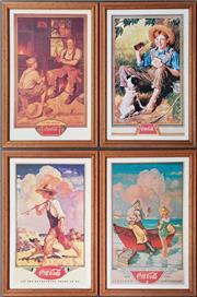 Sale 8964 - Lot 2096 - Collection of Four Coca~Cola Prints (H:66 x W:43cm each)