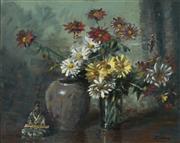Sale 8980A - Lot 5024 - Reginald Rowe (1916 - 2010) - Flower Piece 39.5 x 49.5 cm (frame: 61 x 71 x 3 cm)