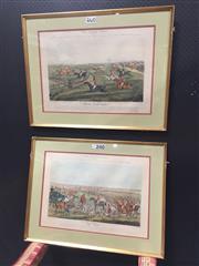 Sale 9050 - Lot 2071 - H Alkin (2 works), hand-coloured engravings of hunting scenes, frame: 58 x 76 cm (each)