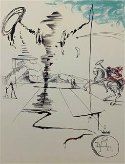 Sale 9108A - Lot 5073 - Salvador Dali (1904 - 1989) - Chevalier 76 x 55 cm
