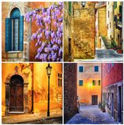 Sale 8330A - Lot 11 - Peter Lik (1959 - ) (4 works) - Street Shots of European Towns (Classical Edition) 25 x 25cm, each