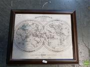 Sale 8548 - Lot 2078 - 1846 Map Print of the World
