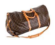 Sale 8599A - Lot 86 - A vintage French Louis Vuitton duffel bag in good condition, W 60cm