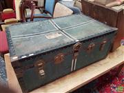 Sale 8601 - Lot 1528 - Metal Bound Lift Top Trunk