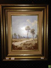 Sale 8622 - Lot 2085 - Irvine Campbell (2 works) - Rosewood Landscapes, oils on board, 21.5 x 29; 29 x 21.5cm, each signed lower left -