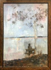 Sale 8752 - Lot 2026 - Joy Bye - Evening oil on canvas, 87.5 x 64cm.