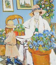 Sale 8764 - Lot 501 - Eva Hannah - The Present 105 x 90.5cm