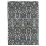 Sale 8911C - Lot 6 - India Jaipur Lattice Design Carpet in Navy/Ivory, 125 x 180cm, Handspun Wool