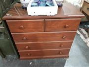 Sale 8979 - Lot 1072 - Timber Chest of Five Drawers (H:90 W:94 D:48cm)