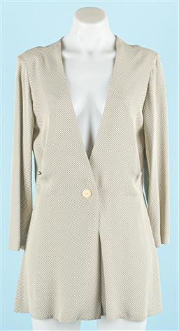 Sale 9091F - Lot 65 - A MARILYN SAINTY JACKET; cream and black fine check, single button front, size 10